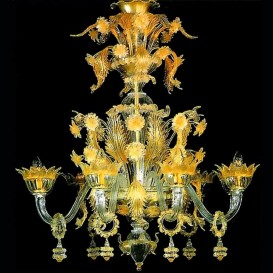 Santa Lucia - Murano glass chandelier 6 lights