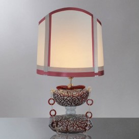 Lampe de table en verre de Murano Sac Rouge