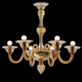 Semplice - Murano glass chandelier 6 lights