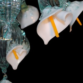 Calla flowers - Murano glass chandelier
