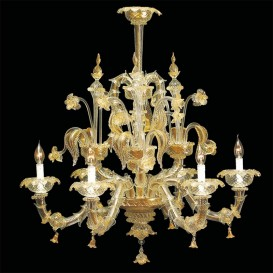 Acropolis Murano glass chandelier 6 lights
