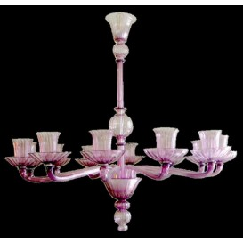 Wine cups - Murano chandelier 12 lights