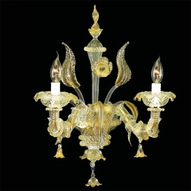 Acropolis Murano glass wall sconce 2 lights