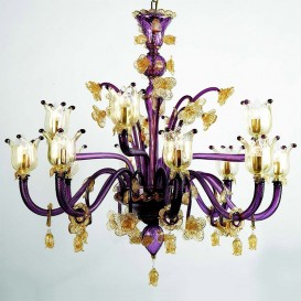 Penelope Murano chandelier 12 lights (8+4)